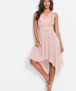Rochie seară cu paiete - roz