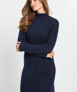 Rochie tricotată - albastru