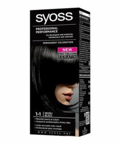 Vopsea de par permanenta Syoss Color Baseline, 1-1 Negru, 115 ml
