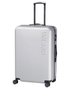 Troler Lamonza Steelcase, ABS, 65 cm, aspect metalic, argintiu