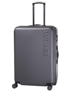 Troler Lamonza Steelcase, ABS, 75 cm, aspect metalic, negru