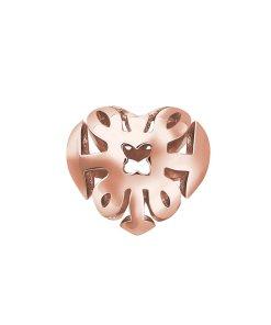 Pandantiv in forma de inima placat cu aur rose de 18k 3262859