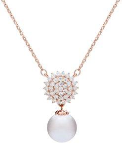U.S. Polo Assn - Colier decorat cu zirconia si perla sintetica 3199229