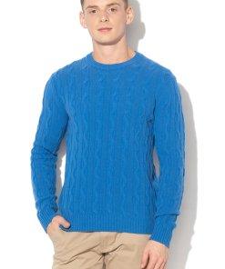 Pulover din amestec de lana - cu model torsade 2281092