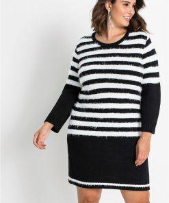 Rochie tricotată - negru