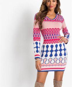 Rochie tricotată - roz