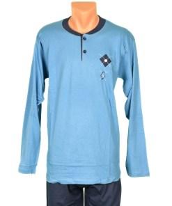 Pijama bleu cu romburi pentru barbat - cod 39820