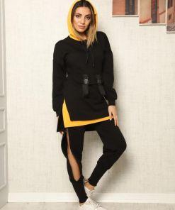 Compleu negru cu fermoar Cool Style - cod 41106