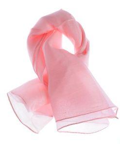 Esarfa roz pal, din matase fina