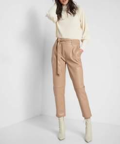 Pantaloni din piele ecologică Ciocolatiu