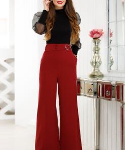 Pantaloni Chloe Bordo