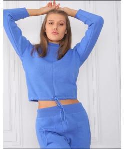 Compleu Dama Tricotat BiddyOne Albastru