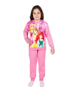 Pijama fleece Printesele Disney roz