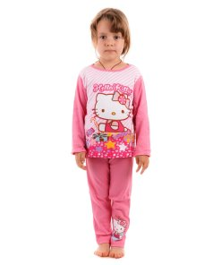 Pijama fete Hello Kitty roz