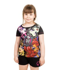 Pijama fete Monster High black pink