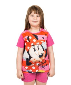 Pijama fete Minnie Mouse roz