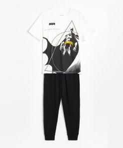 Reserved - Pijama din două piese Batman - Ivory