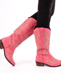 Cizme dama Kristal roz