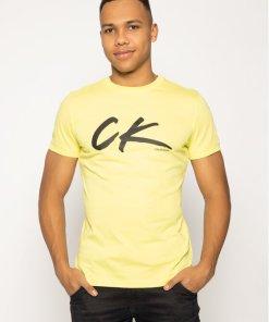 Tricou Calvin Klein Swimwear Retro Crew Tee KM0KM00467 Albastru