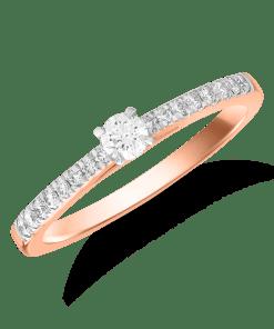 Inel logodna din aur galben de 18K cu diamant de 0.12ct 15397