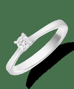 Inel logodna din aur alb de 18K cu diamant de 0.15ct 16639
