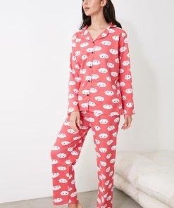 Pijama cu nasturi si nori 3336838