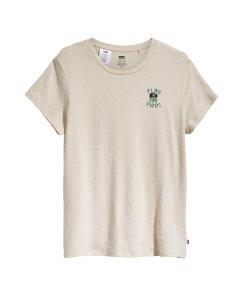 Tricou din bumbac si canepa cu decolteu la baza gatului 3081643