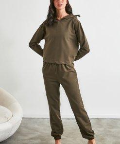 Pijama de bumbac cu hanorac 3250422