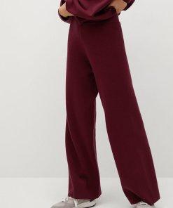 Pantaloni evazati cu aspect de tricot fin Lorca 3331122