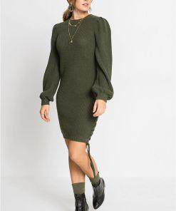 Rochie tricotată - verde