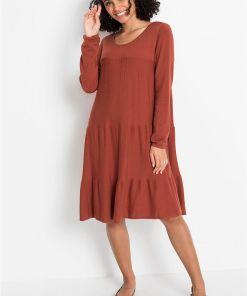 Rochie tricotată - maro