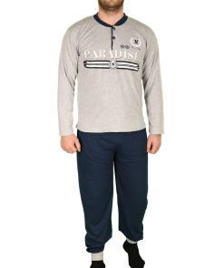 Pijama gri paradise pentru barbat - cod 41583