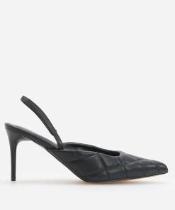 Reserved - Pantofi cu toc cui și călcâi decupat - Negru