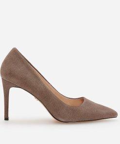 Reserved - Pantofi de piele cu toc - Maro