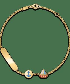 Bratara pentru copii cu vapor din aur galben de 14K 18781