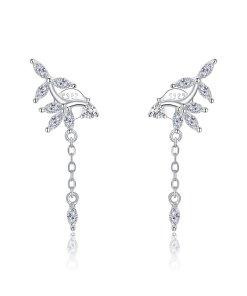 Cercei din argint Elegant Leafs