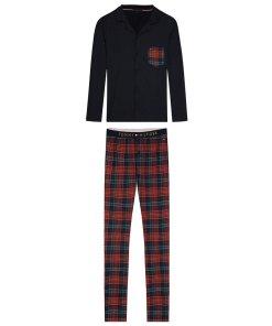 Pijama din bumbac organic cu buzunar pe piept 3416922