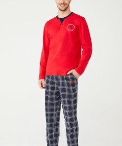 Pijama cu maneci lungi si logo 3196134