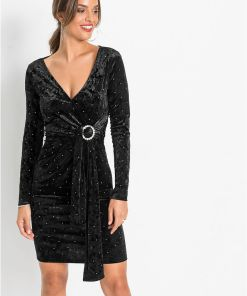 Rochie cu strass-uri - negru