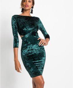 Rochie din catifea - verde