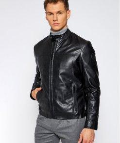 Trussardi Jeans Geacă de piele 52S00485 Negru Regular Fit