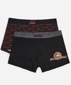 House - Pachet de 2 pantaloni scurți boxer Mortal Kombat - Multicolor