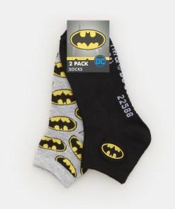 Sinsay - Șosete cu imprimeu Batman - Negru