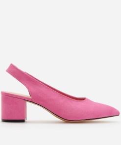 Reserved - Pantofi cu călcâi descoperit - Roz
