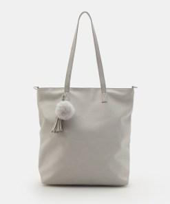 Sinsay - Geantă shopper cu breloc - Gri deschis