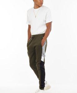 Pantaloni sport conici cu benzi laterale contrastante Trax 3468224