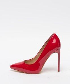 Pantofi stiletto de piele ecologica cu aspect lacuit 3001257