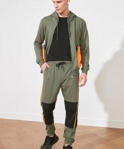 Pantaloni sport regular fit cu snururi in talie 3582318