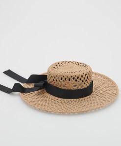 Reserved - Pălărie împletită - Bej
