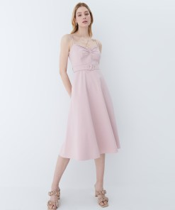 Mohito - Rochie cloș cu curea - Roz